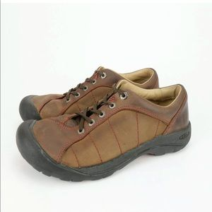 KEEN Presidio Leather Walking Hiking Trail Shoes